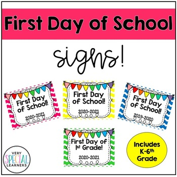 First Day Of School Frames 2 By Very Special Learners Tpt