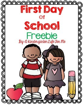 First Day of School Freebie