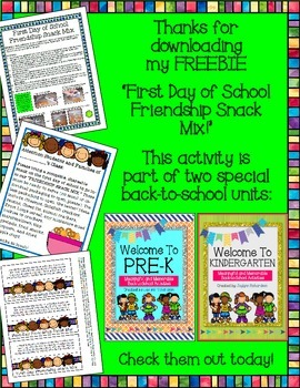 First Day of School Friendship Snack Mix