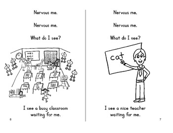 First Day of School Fun Book - Nervous Me, Nervous Me