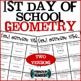 First Day of School Geometry Find Someone Who Ice Breaker