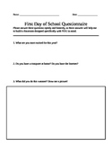 First Day of School Get To Know You Questions
