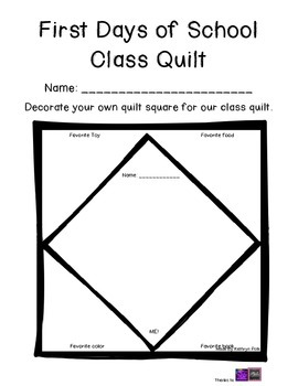 """First Day of School """"Get to Know You"""" Quilt"""