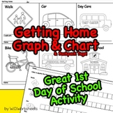 First Day of School Activity Getting Home Graph & Transportation Chart