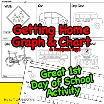 First Day of School Activity Getting Home Graph & Chart Tr