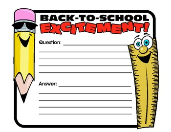 """Back to School- """"Getting to Know You"""" Activities"""