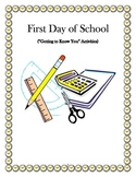 """First Day of School (""""Getting-to-Know-You"""" Activities)"""