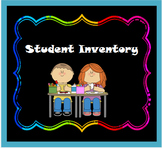 First Day of School: Getting to Know You Inventory