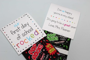 First Day of School Gift (Editable!)