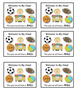 First Day of School Gift (Have a Ball))