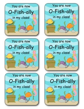 First Day of School Gift (O-Fish-ally in My Class)