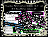 First Day of School Gift - School Year Adventure Survival Pack - Black and White