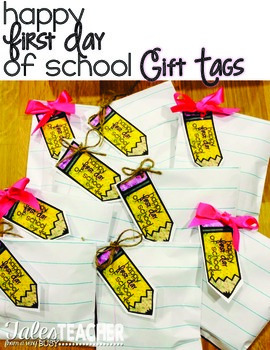 First Day of School {Gift Tags}