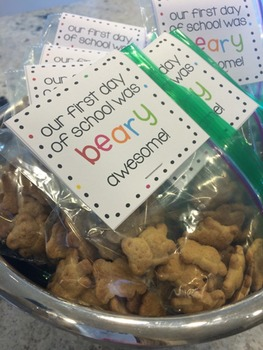 First Day of School Gift with Bears (Editable!)