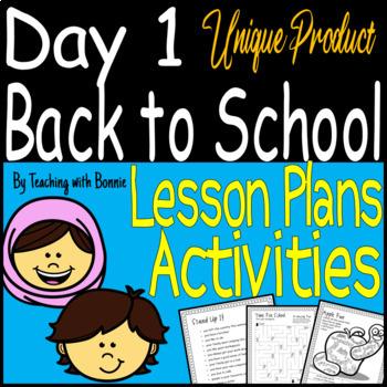 First Day of School Activities Plan