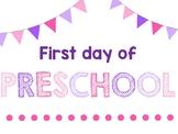First Day of School - Grades Preschool-6th