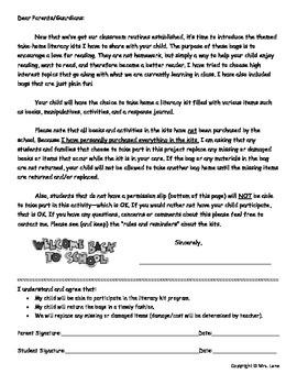 Back-to-School Literacy Kit Idea