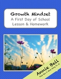 Growth Mindset Lesson - First Day of School (with Homework)