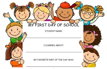 First Day of School Handout