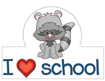 Back to School Activities, First Day of School Hats,  Forest Animals Hats