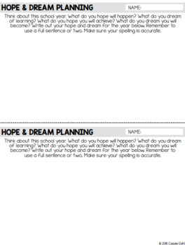 First Day of School: Hopes and Dreams Bulletin Board