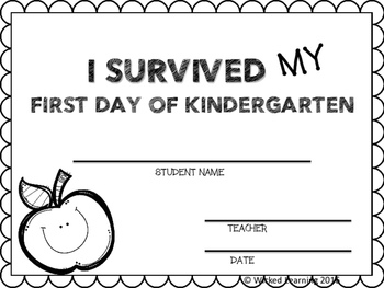"First Day of School ""I SURVIVED"" awards"