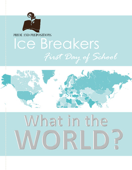 First Day of School Ice Breaker Activity: What in the World?!