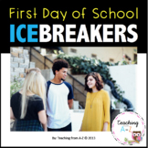 First Day of School Ice Breakers Middle and High School