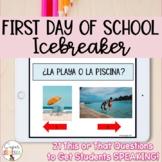 First Day of School Icebreaker (Spanish)