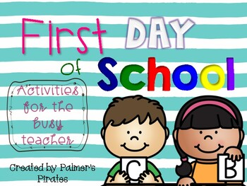 First Day of School Independent, Self-Guided Activities