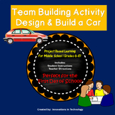First Day of School - Index Card Car Team Building Activity (Back to School)