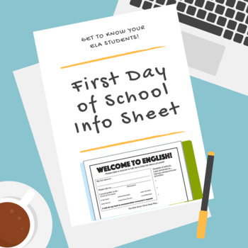 First Day of School Activity | Student Information Sheet for Middle/High School