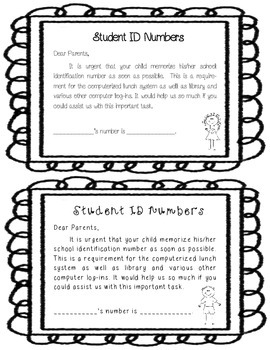 First Day of School Information Packet