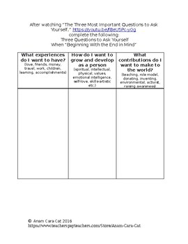 Free Sub Folder Lesson Plan | First Day of School Inspirational Assignment