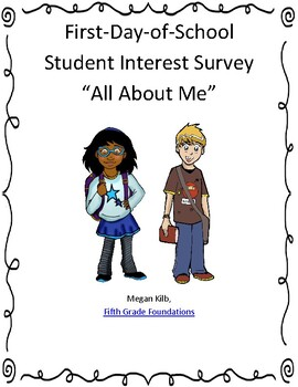 First Day of School Student Interest Survey