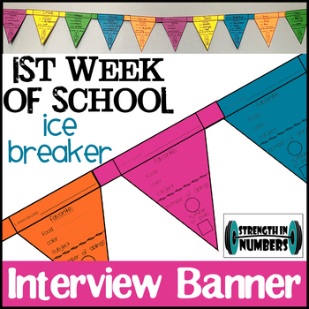 First Day of School Interview Flags Banner Ice Breaker