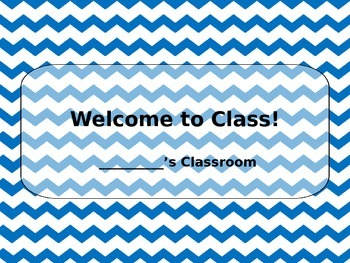 First Day of School Intro (Editable)
