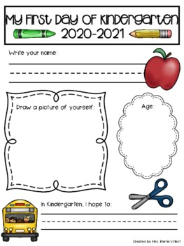 First Day of School Keepsake Pages
