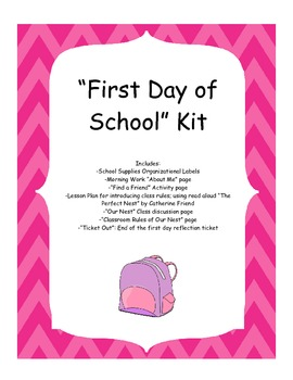 """First Day of School"" Kit for Third Grade"