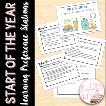 First Day of School Learning Preference Stations (Perfect for Back to School)