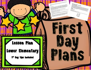 First Day of School Lesson Plan