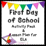 First Day of School Lesson Plan and All About Me Activitie