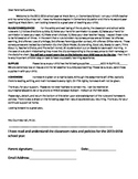 First Day of School Letter to Parents EDITABLE