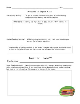 First Day of School Listening Activity