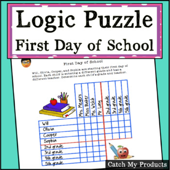 Logic Puzzles For 3rd Grade Worksheets & Teaching Resources | TpT