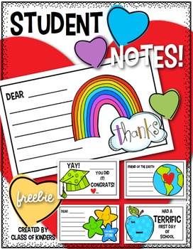First Day of School Love Notes (and More Celebrations) for Students