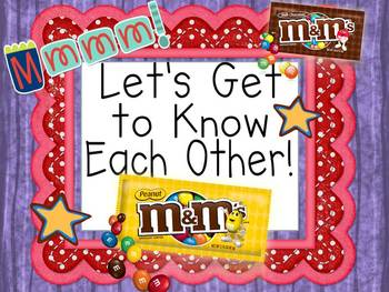 First Day of School M&M Activity!