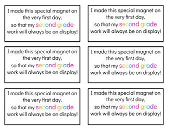 Back to School Magnet Prek-5