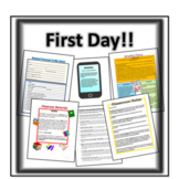First Day of School Materials