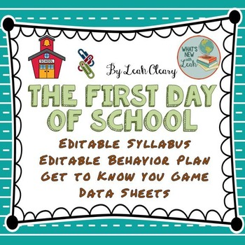 First Day of School: Materials and Procedures